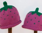Child Adult Hat Rolled Brim Beanie Size SMALL 1 to 6 months Color: RASPBERRY