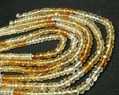 """ON SALE Citrine Rondelles Shaded Citrine Rondels Mixed Shades Light to Dark Faceted Citrine - Your Choice of 6.5 or 13"""" Strand  - 3.5mm"""
