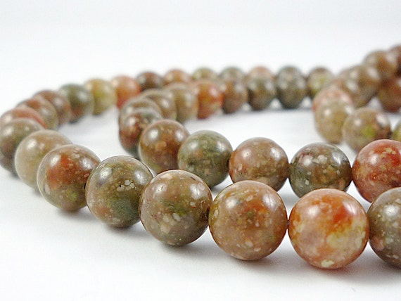 Long Autumn Jasper Necklace Jasper Gemstone Necklace Fall Colors Necklace Jasper Bead Necklace Long Jasper Strand Jasper Necklace Beaded