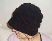 Black Knit Hat, Womens Hat, Womens Accesories, Black Hat, Winter Fashion