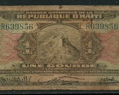 Haiti 1 Gourde Banknote from 1919 (?)