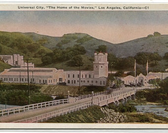 Universal City Movie Studio Hollywood California 1920c postcard