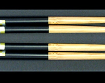 2 Pairs of Japanese Gold & Silver Diamond Chopsticks,9 inches