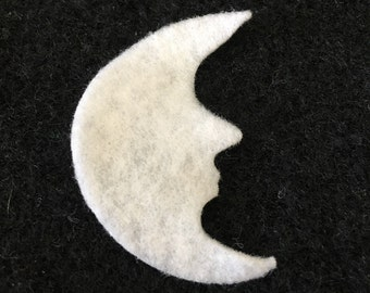 Felt Moon for Wax Dipping-DIY Kits for Independent Counsultants- Parties-Decorations-Costume Embellishments-Crescent Moon Applique
