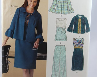 New Look 6835, Misses' Jacket, Dress, Top, and Pants Sewing Pattern, Misses, Size 10 to 22, Uncut