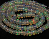 Ethiopian Welo OPAL - AAA - High Quality So Gorgeous Smooth Polished Rondell Beads Full Flash Color Full Fire - 16 Inches  - size 2.5 - 6 mm