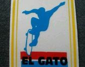 "Vintage El Gato Eddie Elguera H-Street Skateboard Sticker 3.5"" by 2.5"" Rare."