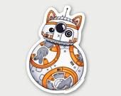BB-CAT - Die Cut Vinyl Star Wars Sticker - Weather Resistant UV Protected
