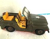 Vintage Metal Toy military Jeep