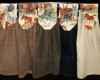 Hanging Kitchen Towels - Horses