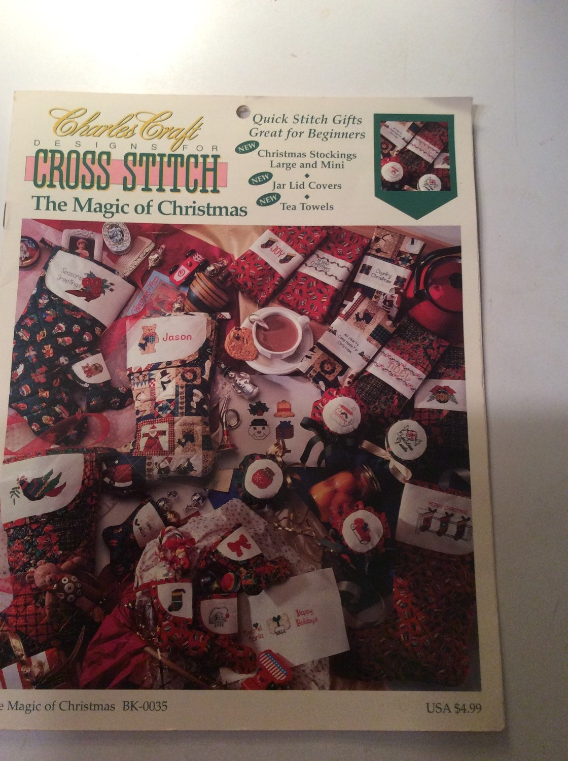 Cross stitch gingerbread christmas sock from valleyvintage for Charles craft christmas stockings