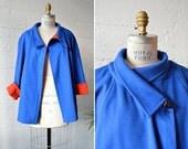 Vintage 1980s CHLOE two-tone wool coat