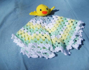 Yellow Duck Baby  Blanket Toy Snuggly