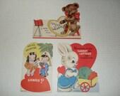 8)  Three Unused Vintage Valentine Cards