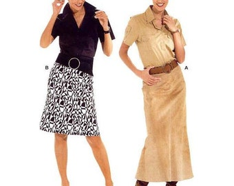 Misses' Easy Fit and Flare Skirt in Two Lengths  - Sz 10 thru 28 - Burda Start2 Pattern 8280