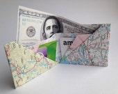Origami Map Wallet - Folded Paper Ontario Map - Fun Novelty Gift - Bifold Money and Credit Card Holder - Canada Lovers Present