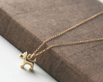 Dog Necklace,Delicate Necklace,Simple Necklace,Everyday Necklace,Layering Necklace,Gold Necklace,Schnauzer Necklace