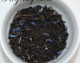 Black, CREAM EARL GREY ~ 4 oz loose leaf tea tin, Regency Tea