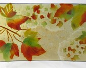 Red Maple Acer Rubrum Fused Glass Dish