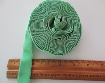 5 yards of vintage trim- spring green velvet ribbon