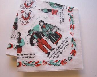 34 vintage paper napkins - Pennsylvania Dutch souvenir novelty napkins
