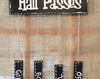 Classroom Hall Pass Holder