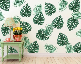 Vinyl Wall Sticker Decal Art - Palm Branches