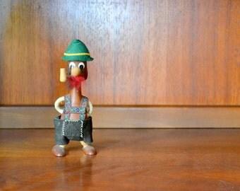 vintage midcentury scandinavian lederhosen figurine