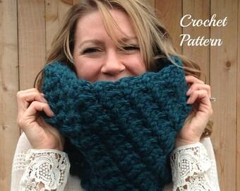 CROCHET PATTERN - Chunky Cowl Crochet Pattern, Crochet Cowl Pattern, Infinity Cowl Pattern, Crochet Scarf Pattern, Infinity Scarf Pattern