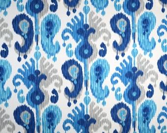ODL Journey Seaglas Ikat Blue Grey White Fabric