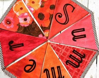 Summer Banner - Fabric Summer Bunting