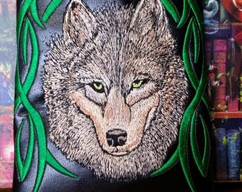 New Kindle HD Case. Fabulous embroidered  Wolf's Head Case
