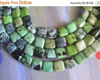 """20% OFF ON SALE 16"""" Long (39 pieces) Blue Howlite Square 10mm Beads, Gemstone Beads"""