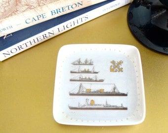 Gegr Unlenhorst Mini Souvenir Five Ships Of Bremen Germany Decorative Souvenir Plate