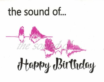 Personalised Soundwave Greeting card - Any word