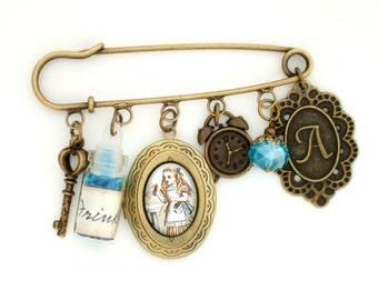 Alice in Wonderland Brooch Alice brooch Wonderland Jewellery Wonderland Accessory Alice Cameo Brooch Literary Gift Book Lover Gift