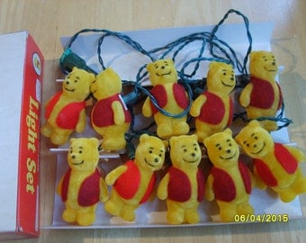 Vintage Winnie the Pooh Light Set, Walt Disney Productions, Vintage Sears Roebuck Light Set