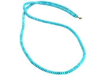 Genuine Sleeping Beauty Turquoise Beads Rondelle 3.3mm Strand