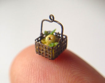 Quarter scale apples in basket 2