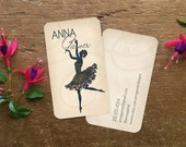 Business Cards, Custom Business Cards, Calling Cards, Art Deco Business Cards, Personal Business Cards, Stationery, Gift for Dancer