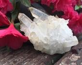 Authentic Arkansas Quartz Crystal Cluster Lemon Golden Healer