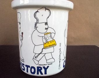 "1983 Barney Saltzberg ""Chef Tools Through History"" Kitchen Utensil Holder"