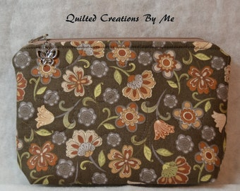 Cosmetic Bag/Camera Case/Diabetic Supplies Bag REAdY TO SHIP by Quilted Creations By Me