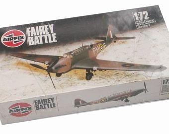 1986 Model Airplane Fairey Battle Airfix Humbrol Product