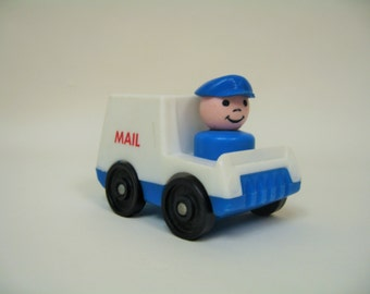 Vintage Fisher Price Mail Truck and Mailman