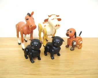 Vintage Fisher Price HEX Farm Animals