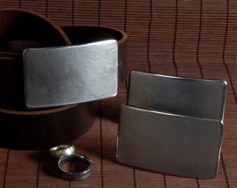 "Wedding Accessories Belt Buckles Personalized Keepsakes Groom & Groomsmen's Raw Stainless Steel Jean Belt Buckles Hand Forged Fits 1.5"" Belt"