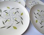Vintage Homer Laughlin Cascade Dinner Plates - Retro Cute