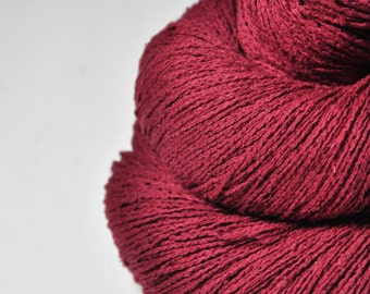 Hot desire - Silk Noil Lace Yarn - LIMITED EDITION