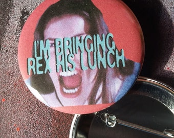 Corey Liv Tyler pin large Empire Records pin badge Rex Manning Day button pinback buttons Damn the Man Save the Empire